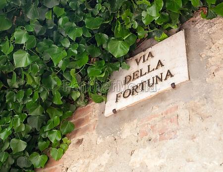 the famous street of pienza via