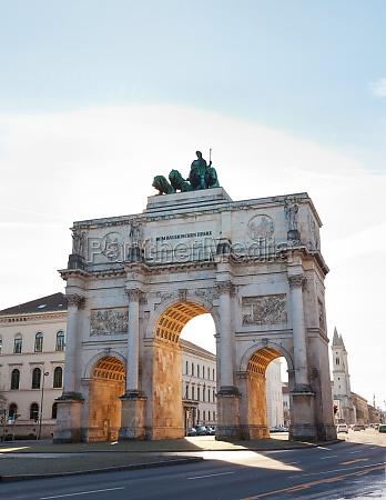siegestor victory gate in munich bavaria