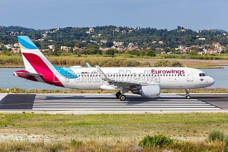 eurowings airbus a320 airplane corfu airport