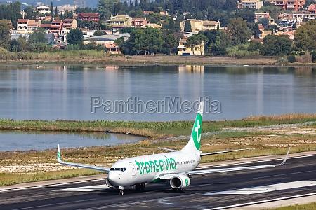 transavia boeing 737 800 airplane corfu