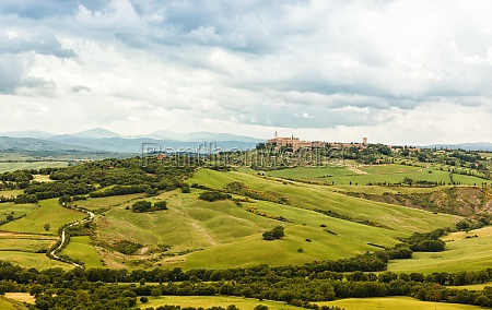 view of the town of pienza