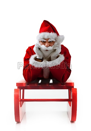 christmas sledge with santa claus