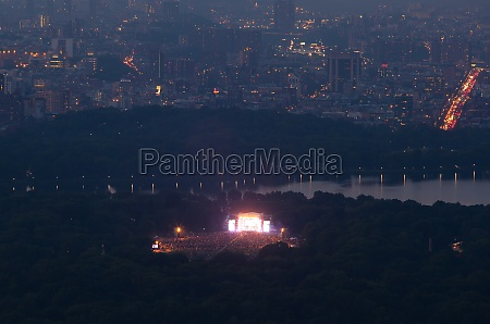 view of central park with a