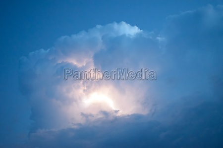 lightnings in storm clouds peals of
