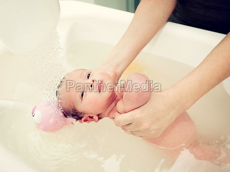 newborn first bath