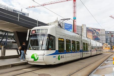 zurich zuerich airport zrh with tram
