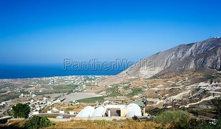 landscape from santorini island