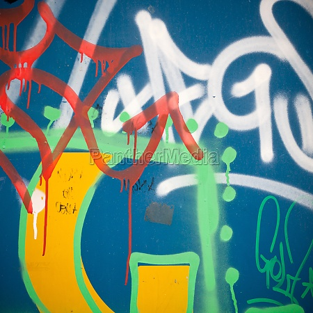 extreme close up of graffiti on