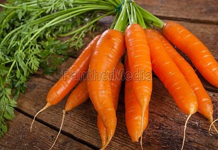 bunch of fresh organic carrots
