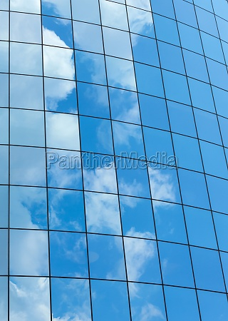 modern glass skycrapers background