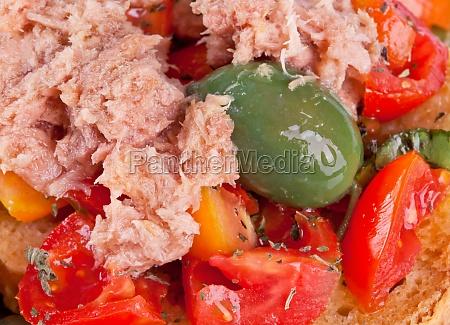 fresella italian bread with tuna and