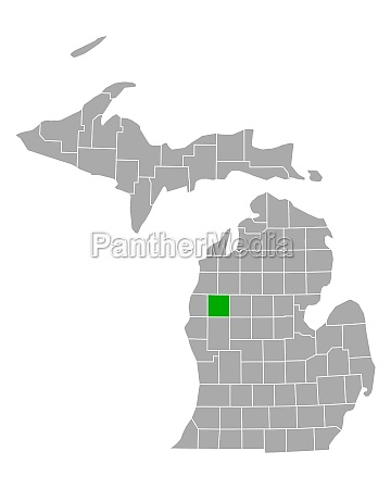 map of lake in michigan