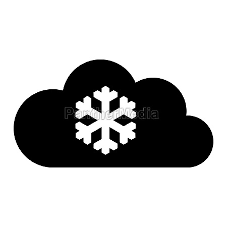 snow flake and cloud