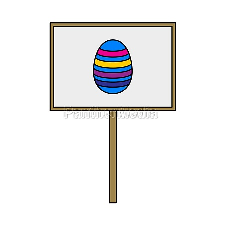 easter pointer with egg icon