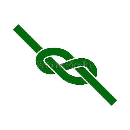 alpinist rope knot icon