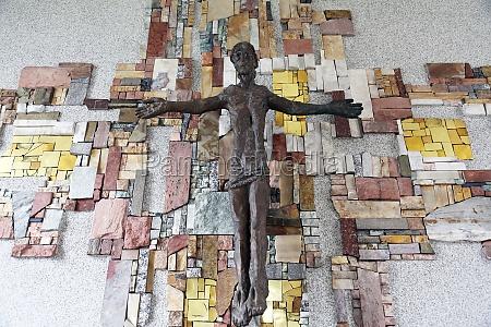 the crucifix in the parish church