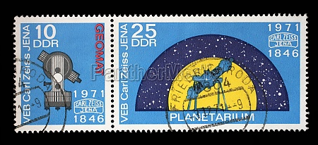 stamp printed in gdr from the