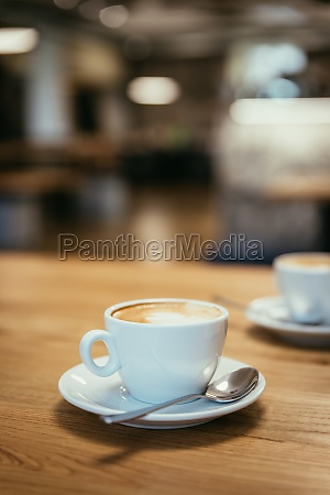 cup of italian cappuccino in a