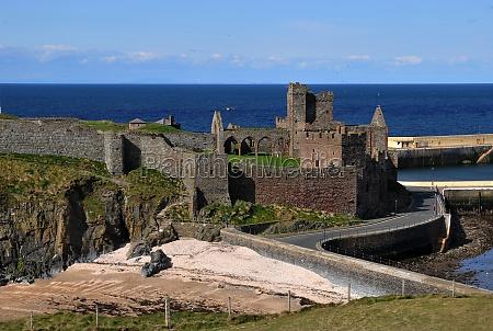 old ruins of peel castle
