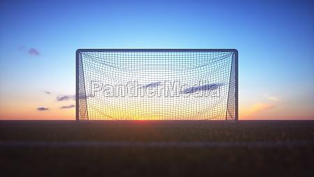 soccer goal net clipping path