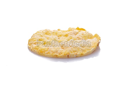 corn maize quinoa waffle white isolated