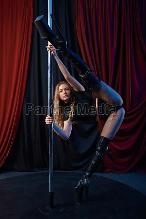 sexy showgirl pole dance striptease