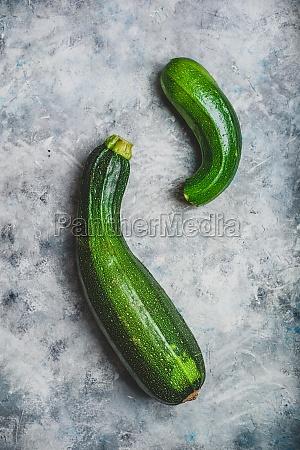 two fresh zucchini