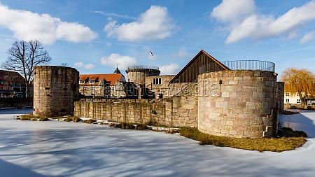 the ruin castle of friedewald in