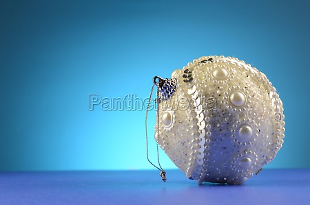 christmas white bauble