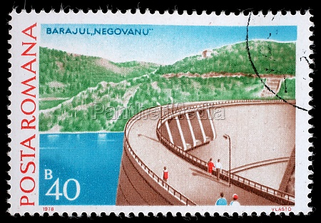 stamp printed in romania shows negovanu