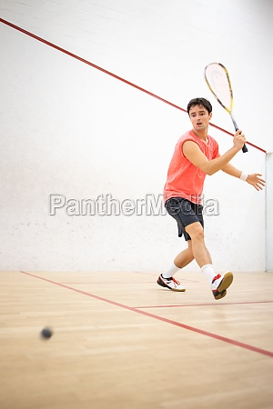 squash player in action on a