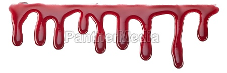 thin drips of strawberry or cherry