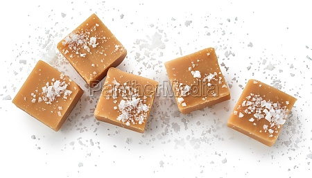 top view of salted fudge on