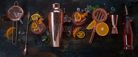 panorama banner for alcoholic cocktails or