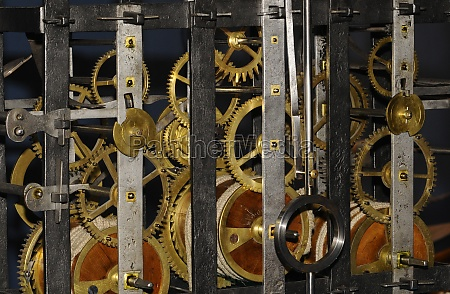mechanical clockwork with gear and cogwheel