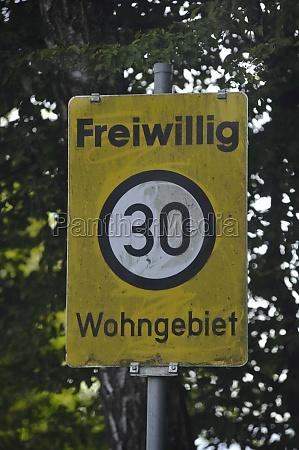 30 kilometers per hour speed limit