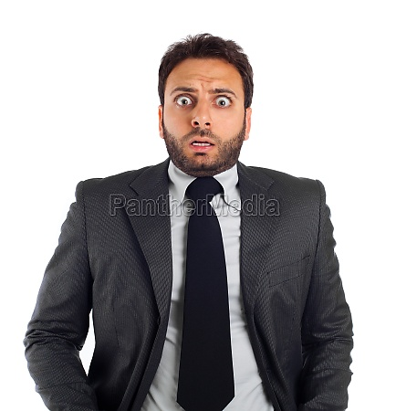 young business man with an expression