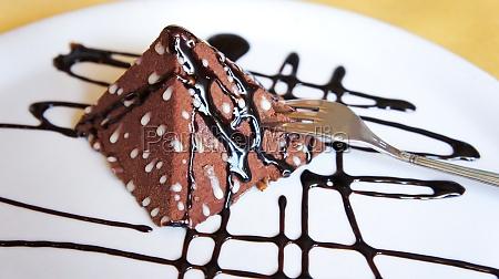 dessert chocolate dessert shape of