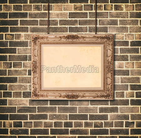golden picture frame baroque style