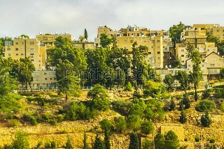 urbanization on the hills jerusalem city