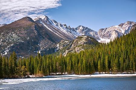 bear lake at the rocky mountain