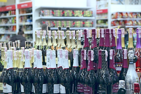 champagne shop with wide choise alcoholic