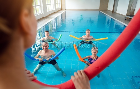 people in aqua fitness class during
