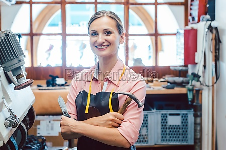 business portrait of owner in her