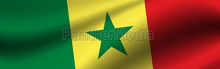 banner with the flag of senegal