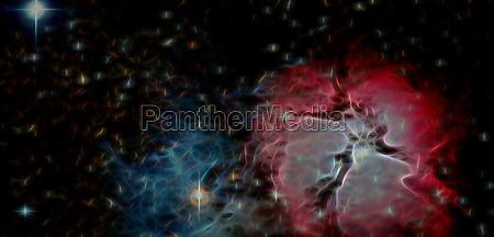 space background with dark matter elements