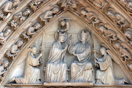notre dame cathedral paris the portal