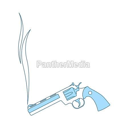 smoking revolver icon