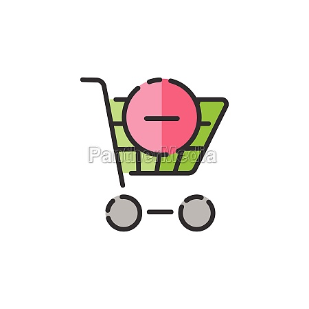 shopping cart delete product filled color