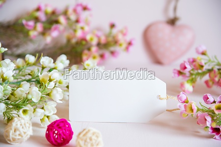spring flower decoration label with copy